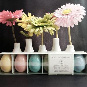 Williams-Sonoma 6 Alabaster Eggs Made In Italy